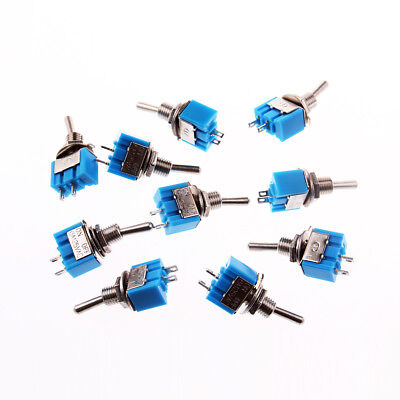 10x 2 Pin 6mm Spst Onoff 2 Position 250vac Mini Toggle Switch Mts-101 Us Stock