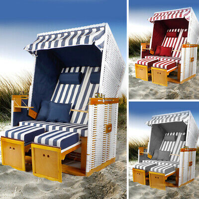 Strandkorb Norderney Volllieger Gartenliege Sonneninsel Poly-Rattan