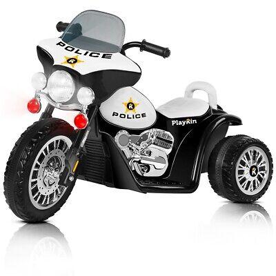 Moto electrica niños policia bateria 6V recargable triciclo infantil +2 años