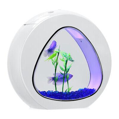 1 Gallon Fish Aquarium Betta Fish Tank Acrylic Fish Bowl w/Filter Air Pump White