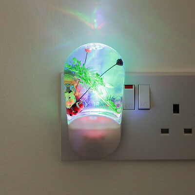 CHILDREN'S INDOOR BEDROOM COLOUR PROJECTOR AUTOMATIC PLUG LED SAFETY NIGHT LIGHT