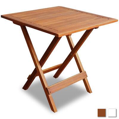 Weiße Terrasse Tisch (vidaXL Akazie Gartentisch Holztisch Beistelltisch Klapptisch Tisch Weiß/Braun)