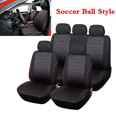 Soccer Seat - Full Set Soccer Ball Style Vehicle Car Interior Accessories Seat Cover For 5-Sit