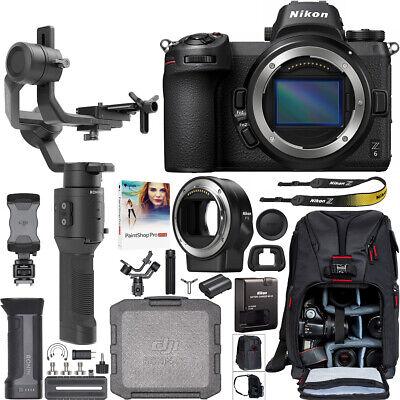 Nikon Z6 FX Mirrorless 4K Camera + Adapter + DJI Ronin-SC Gimbal Filmmaker's Kit