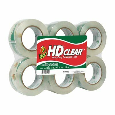 Duck HD Clear Heavy Duty Packing Tape YardsStrong Secure Hold Storage Boxes NEW