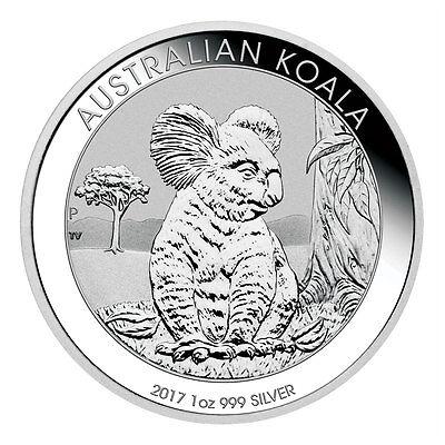 2017 P Australia  1 1 Oz  Silver Koala Bu  Original Mint Cap  Sku45136