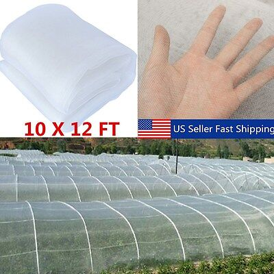 Vegetable Garden Netting (Garden Mesh Netting Plant Vegetable for Mosquito Bug Insect Bird 10x12FT US)