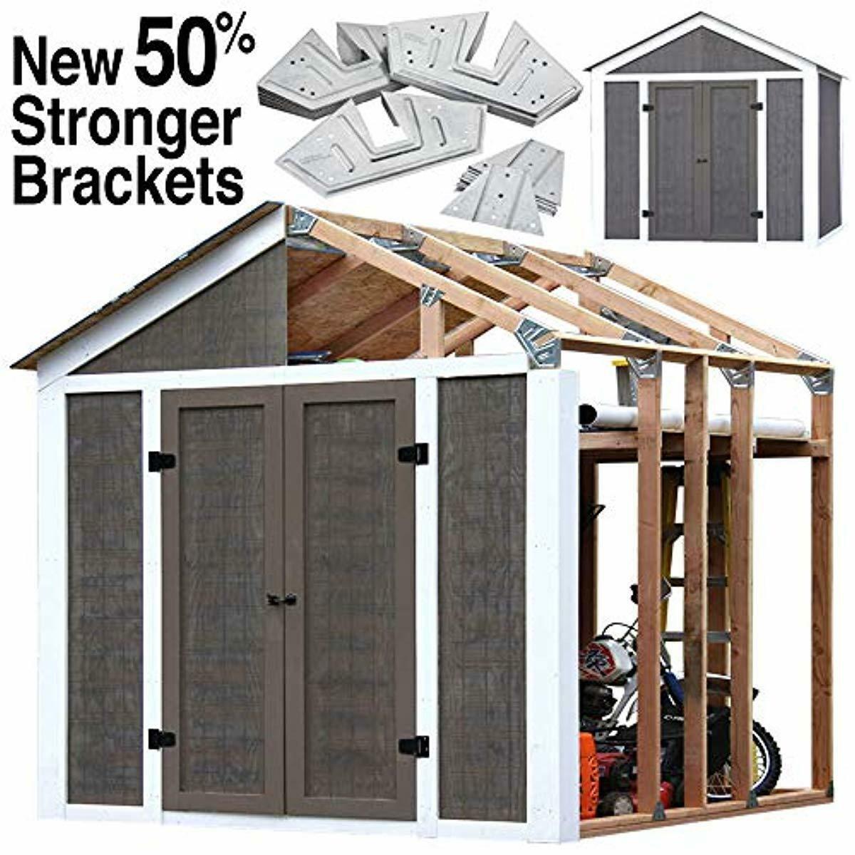Details About Instant Framing Kit Storage Shed Mini Workshop Garage Peak Style Steel Base New