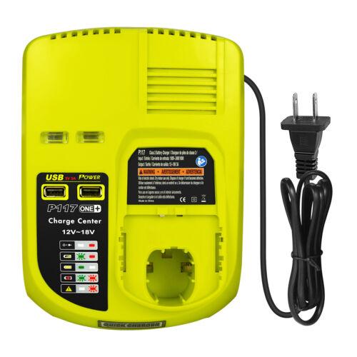 P117 Charger for Ryobi ONE+ P108 P100 P104 12V-18V Lithium & NiCD & NiMH Battery