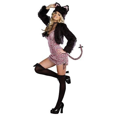 Purr-fect-Me-Pink-n-Black Kitty Cat Costume Dreamgirl 7578  - Pink And Black Cat Costume