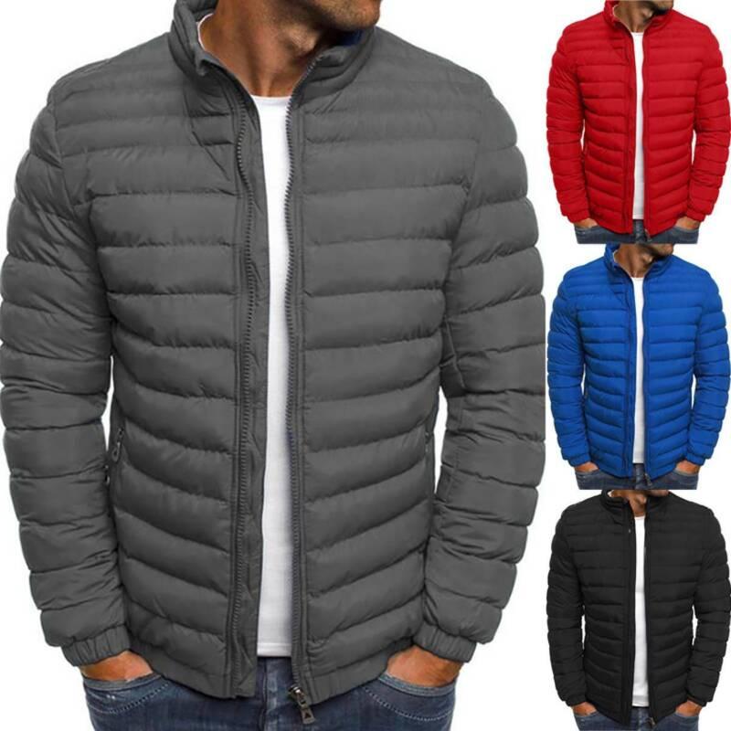 Packable Light Mens Down Puffer Jacket Bubble Ski Coat Quilt