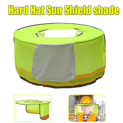 Us Hard Hat Sun Shield Reflective Full Brim Mesh Sun Shade Port Outdoor Worker