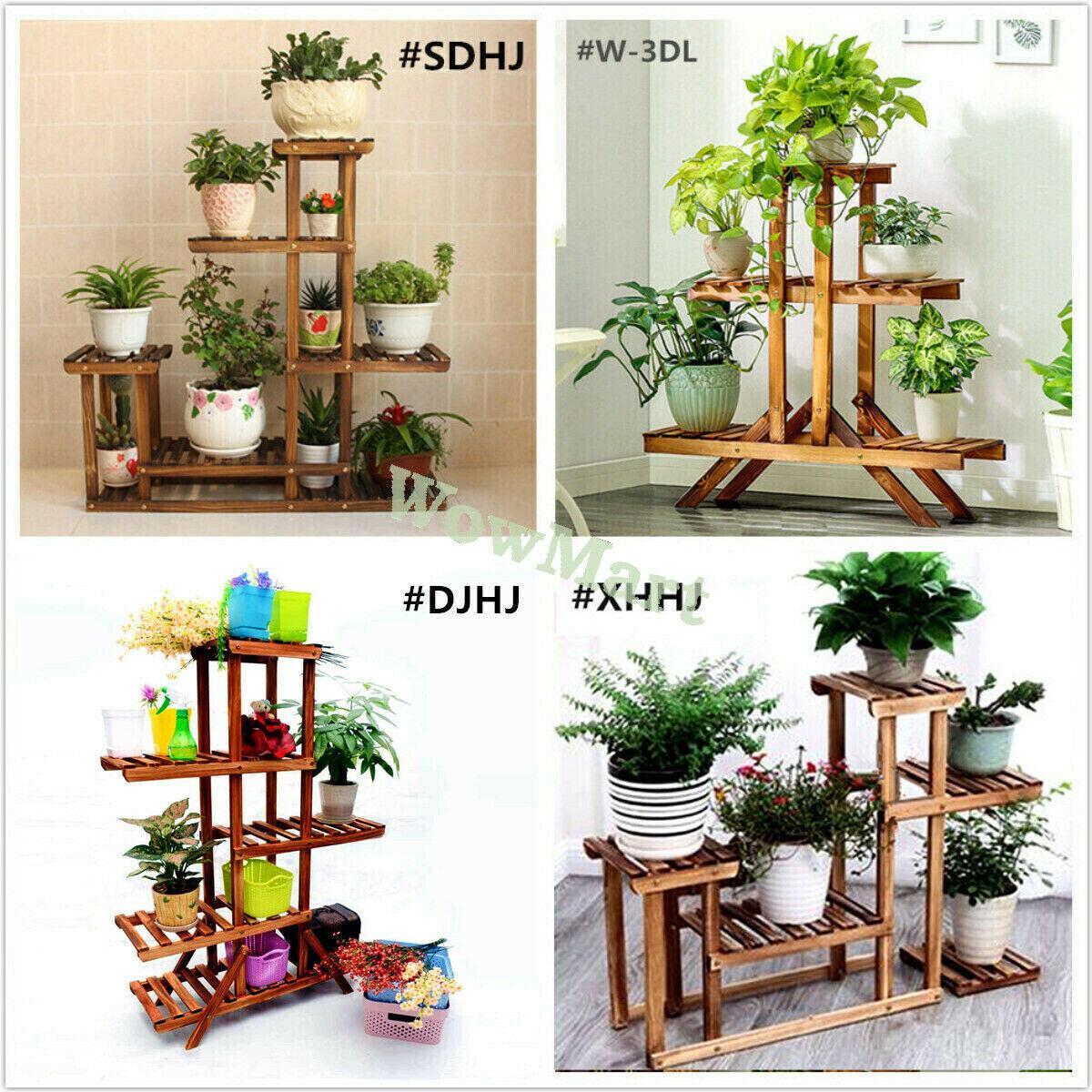 Indoor /& Outdoor Flower Pot Shelf Stand Window Flower Box Shelves Plant Stand,Wood Plant Stand,Flower Pot Shelf Stand