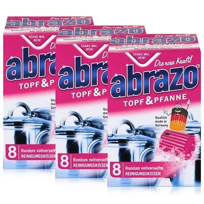 abrazo Topf & Pfanne Reinigungskissen - Die rosa Kraft (3er Pack) (Reinigung Topf)