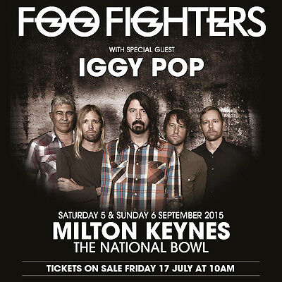 FOO FIGHTERS /IGGY POP 2015 LONDON CONCERT TOUR POSTER-Alt/Hard Rock,Post-grunge - $11.99