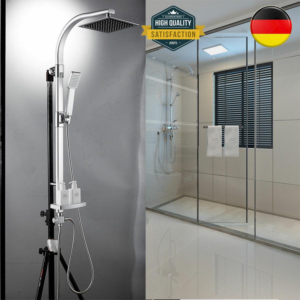 Duscharmatur Duschsystem Duschsäule Duschset Handbrause mit Seifenschale Neu