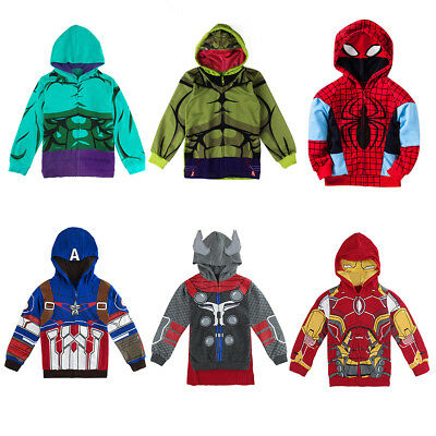 Kids Boy Hulk Costume Outerwear Toddler Hoodie Jacket Winter Sweatshirt Coat
