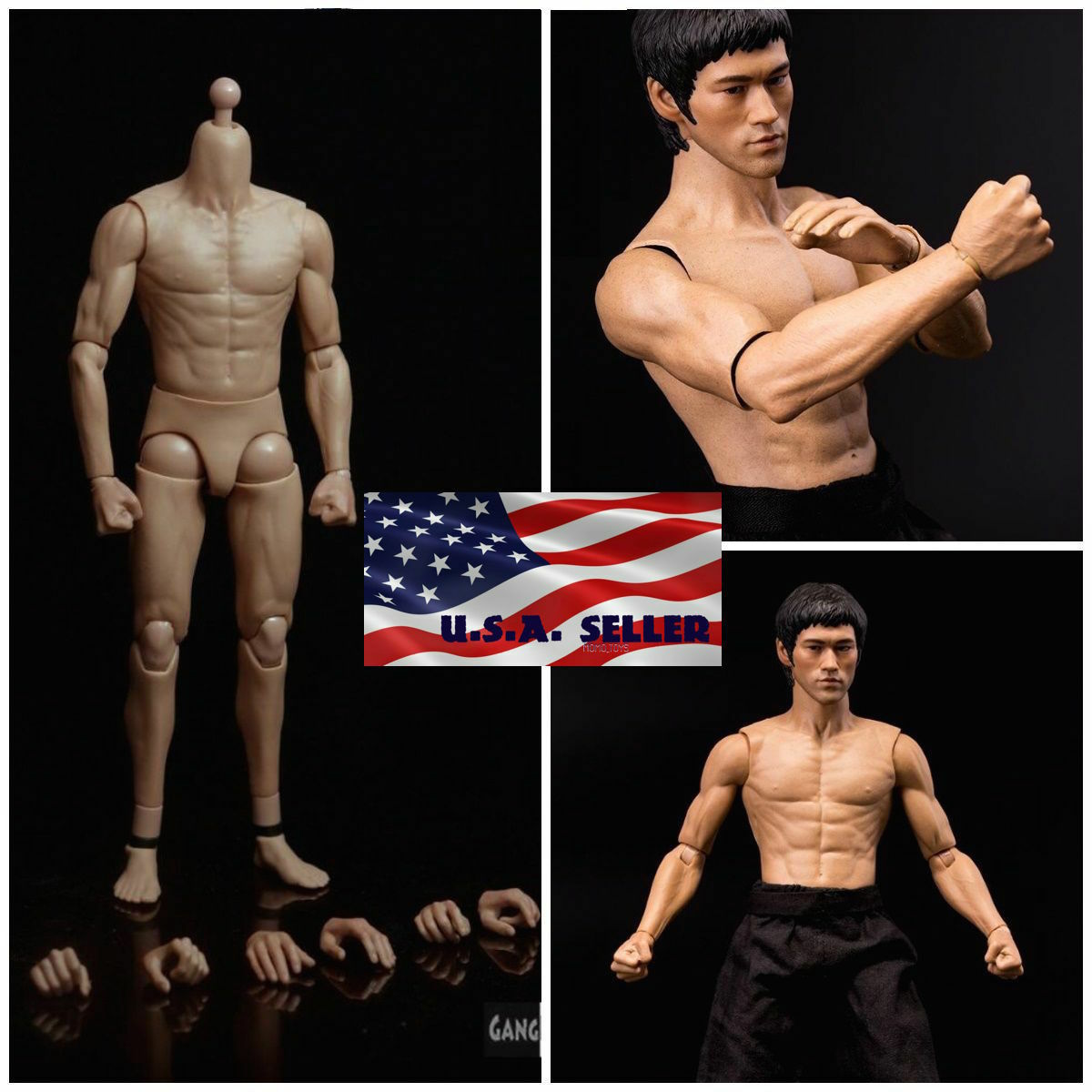 """SELLER ZC Toys 1//6 Muscular Male Figure Body For 12/"""" Wolverine Head Play U.S.A"""