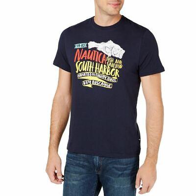 NAUTICA NEW Men's Navy South Harbor Cotton Graphic Tee T-Shirt 4XL TEDO