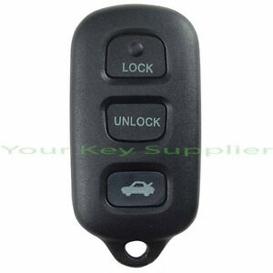 brand new toyota camry solara remote keyless key fob transmitter gq43vt14t. Black Bedroom Furniture Sets. Home Design Ideas