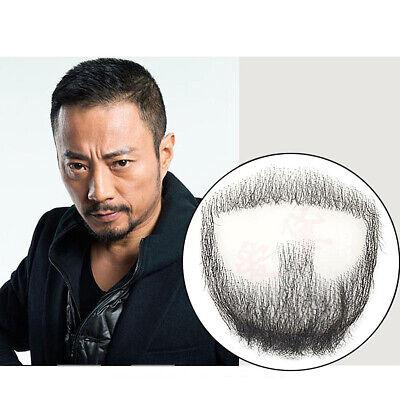 Fake Beard Men Mustache 100% Human Hair Makeup Body Care Prop Goatee Style](Fake Moustache)