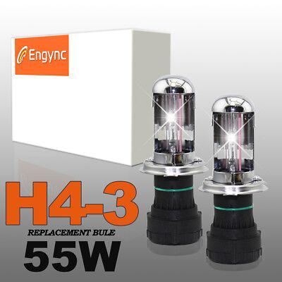 H4 Replacement Lamp HID Xenon Headlight Bulb 55W 5000K 6000K 8000K 10000K -
