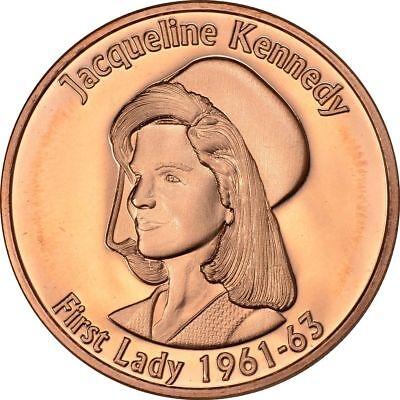 1 oz Copper Round - Jackie Kennedy