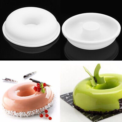 Silicone Round Donut Mold Muffin Bread Chocolate Mousse Cake Mould Baking Tool ()