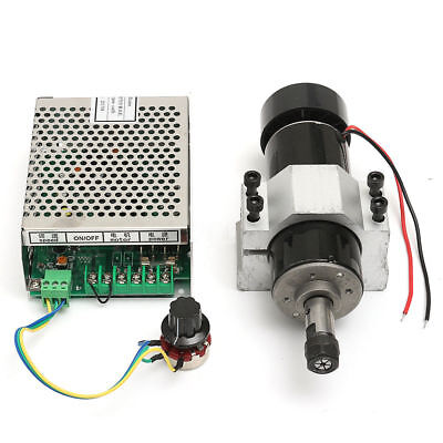 500w Cnc Spindle Motor Air Cooling Brushless Clamp Speed Governor Er11 Collets