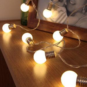Battery Warm White Mini Bulb Fairy Xmas Halloween Party Desk LED String Light UK