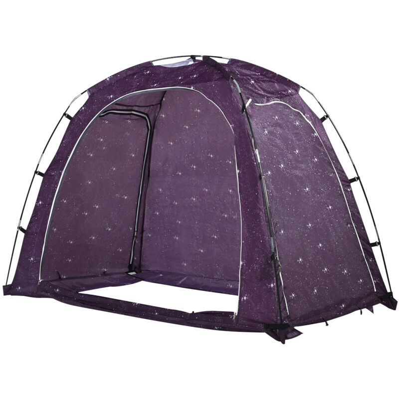 Bed Tent Indoor Privacy Play Tent on Bed with Carry Bag Portable Twin Size