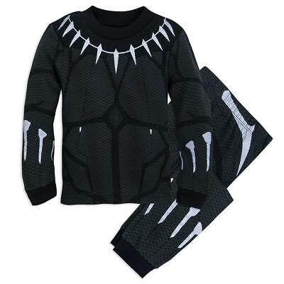 NWT Disney Store Black Panther Costume PJ Pal Marvel's Avengers 4,5,6,7,8,10