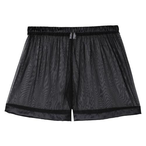 94cad3dea56400 Men Transparent Boxer Shorts Smooth Briefs Mesh Swim Loose Lounge UnderwearGBP  1.17