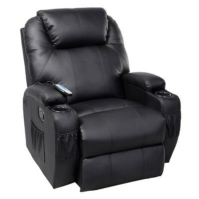 Massage Recliner Sofa Chair Deluxe Ergonomic Lounge Heate...