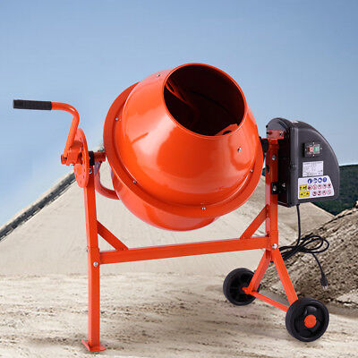 2-15cuft Mixer Concrete Cement Mortar Portable Electric Barrow Machine