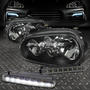 BLACK HOUSING CLEAR HEADLIGHT+CORNER+SMOKED LED FOG LIGHT FOR 99-04 VW GOLF MK4