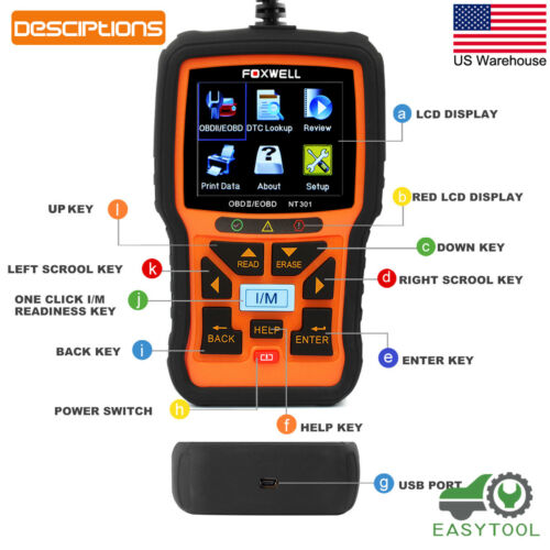 Owner Foxwell NT301 OBD OBD2 Engine Universal Car Code Reader Scanner Diagnostic Tool