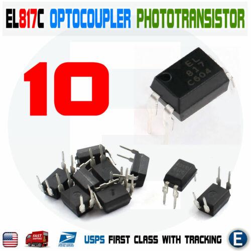 10pcs PC817 EL817C LTV817 PC817-1 80V 20mA OPTOCOUPLER Phototransistor DIP-4