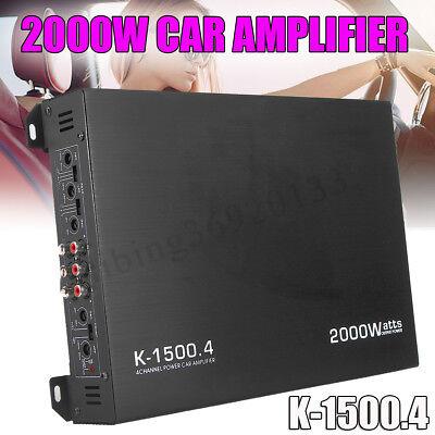 2000 Watt Mono Amplifier Amp (2000W Watt 4 Channel Class AB Car Audio Power Amplifier AMP Stereo Mono)