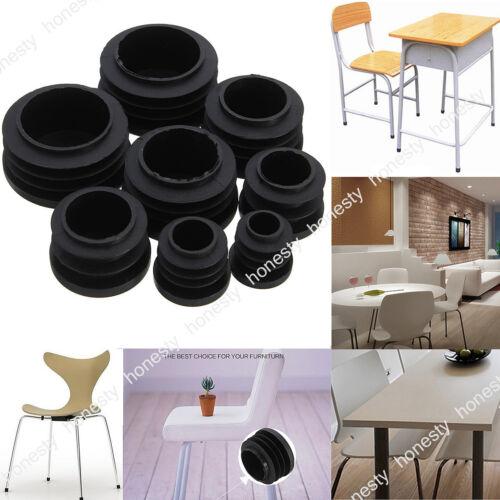 4PCS Round Plastic Chair Leg Glide Caps Plug Tubing Pipe Insert Floor Protectors