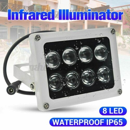 8 Array CCTV LED Illuminator IR 60m Infrared Vision Light Lamp for IP POE Camera
