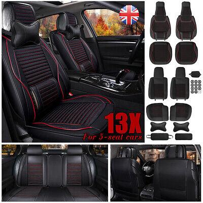 13Pcs Luxury Full Set Universal Car Cushion Auto 5-Seats Leather Seat Cover Pad