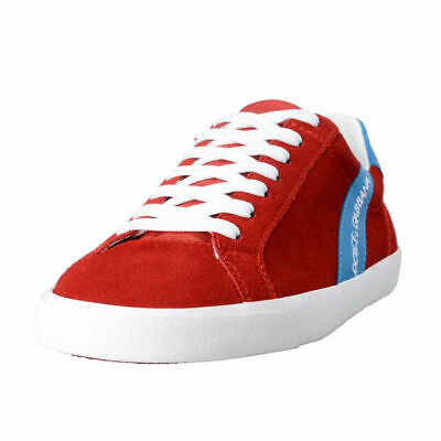 Dolce & Gabbana Men's Red Suede Leather Fashion Sneakers Shoes Sz 7 7.5
