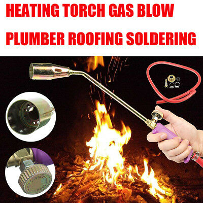 44cm Heating Torch Propane Butane Gas Flame Blow Plunber Roofing Soldering