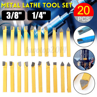 20pcs Metal Lathe Tool Set Carbide Tip Cutting Turning Boring Bit Diy Tools