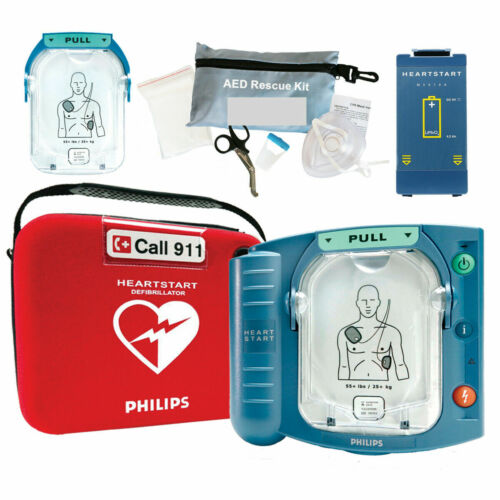 NEW Sealed Philips Heartstart Onsite AED M5066A HS1 2021 Pads 7 Year Warranty
