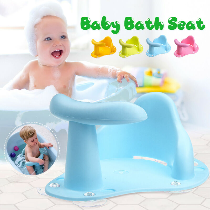 Baby Bathtub Infant Shower Bath Tub Ring Seat Safety Kids Anti Slip Chair Toy