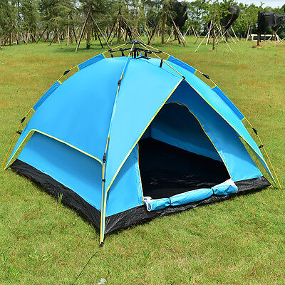 Waterproof 2-3 Person Camping Tent Hydraulic Automatic Instant Hiking w/ Bag
