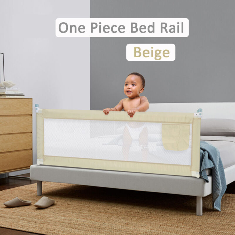"""Baby Guard Bed Rail Toddler Adjustable Kids Infant Bed Universal Protection 59"""""""