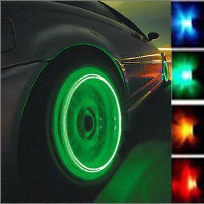 - 2PCS Bike Car Wheel Tire Tyre Valve Cap Spoke Neon LED Flash Light Lamp Warehous